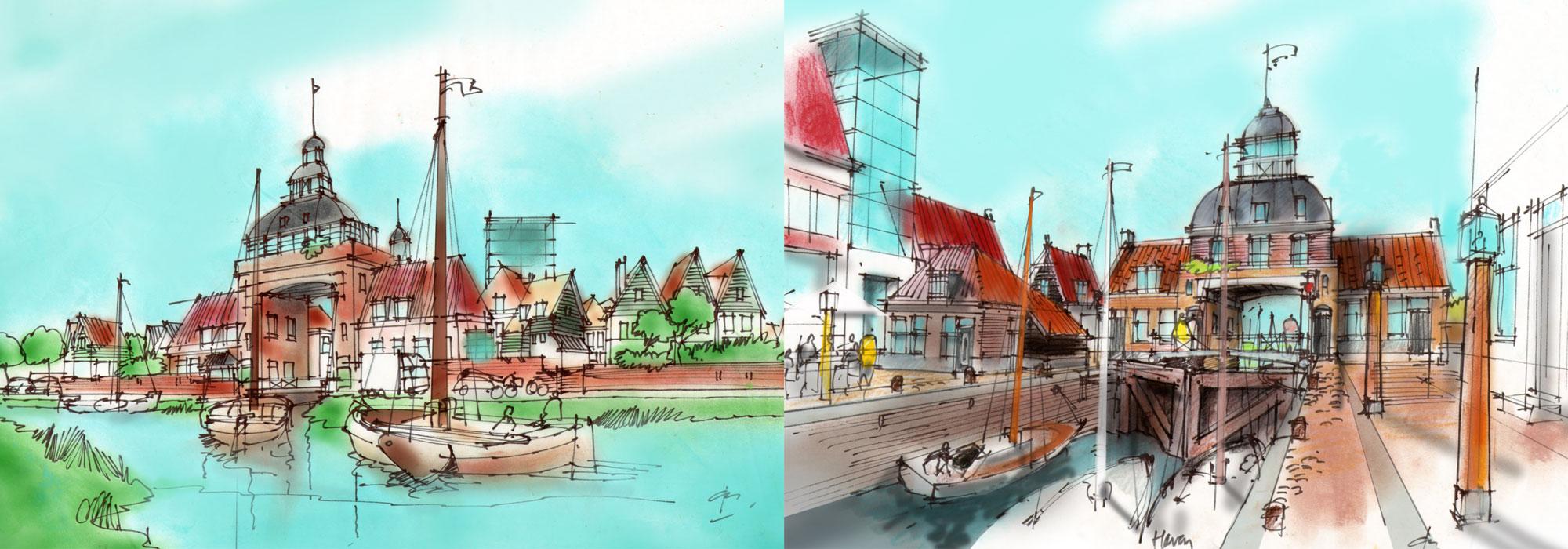 Concept sluis en entreepoort polderwijk