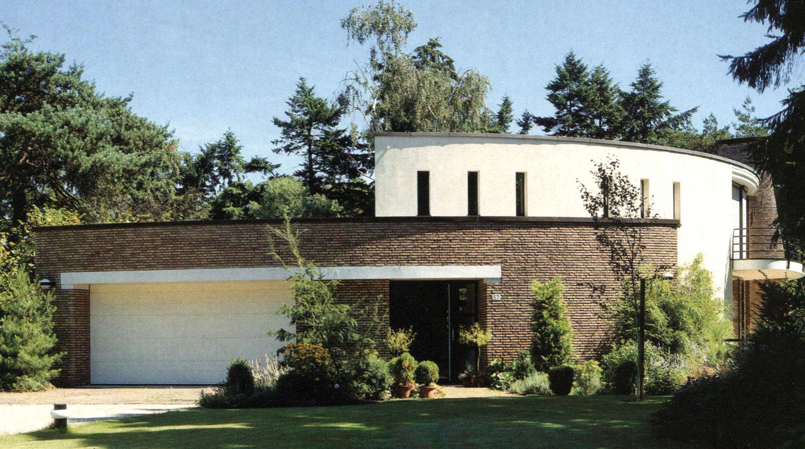 Ontwerp particulier woonhuis te Bilthoven. voorgevel
