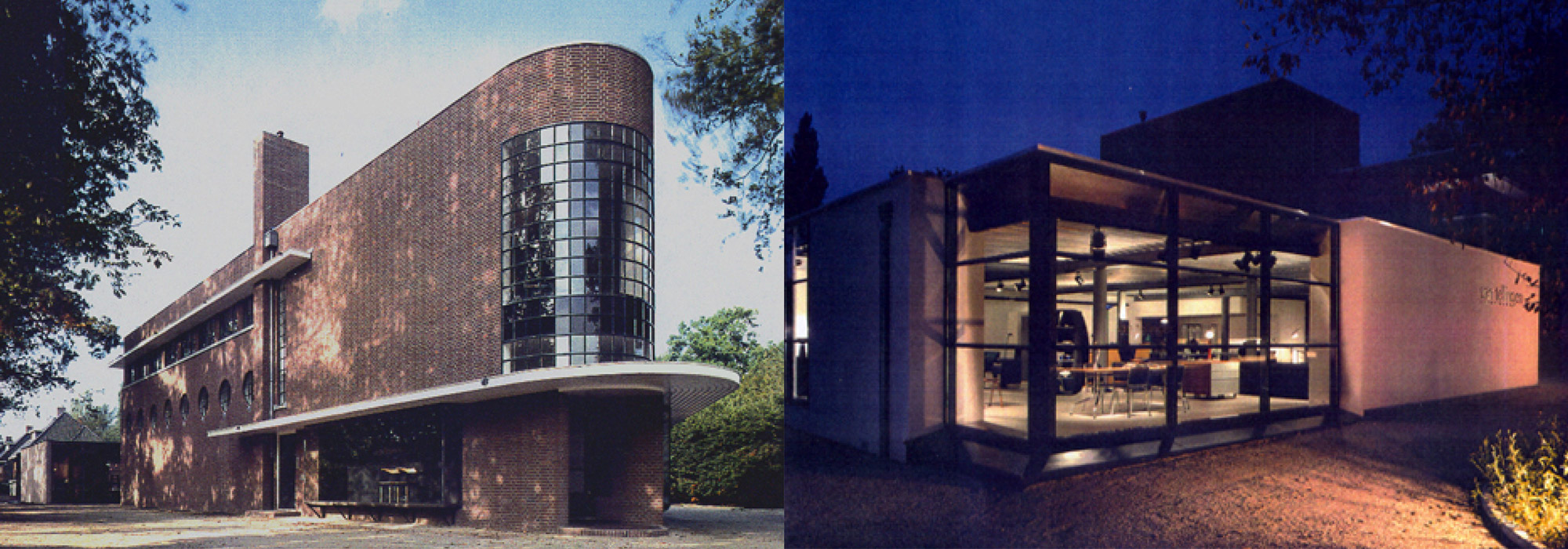 Restauratie en renovatie voormalig PUEM gebouw in Zeist tot showroom en kantoor