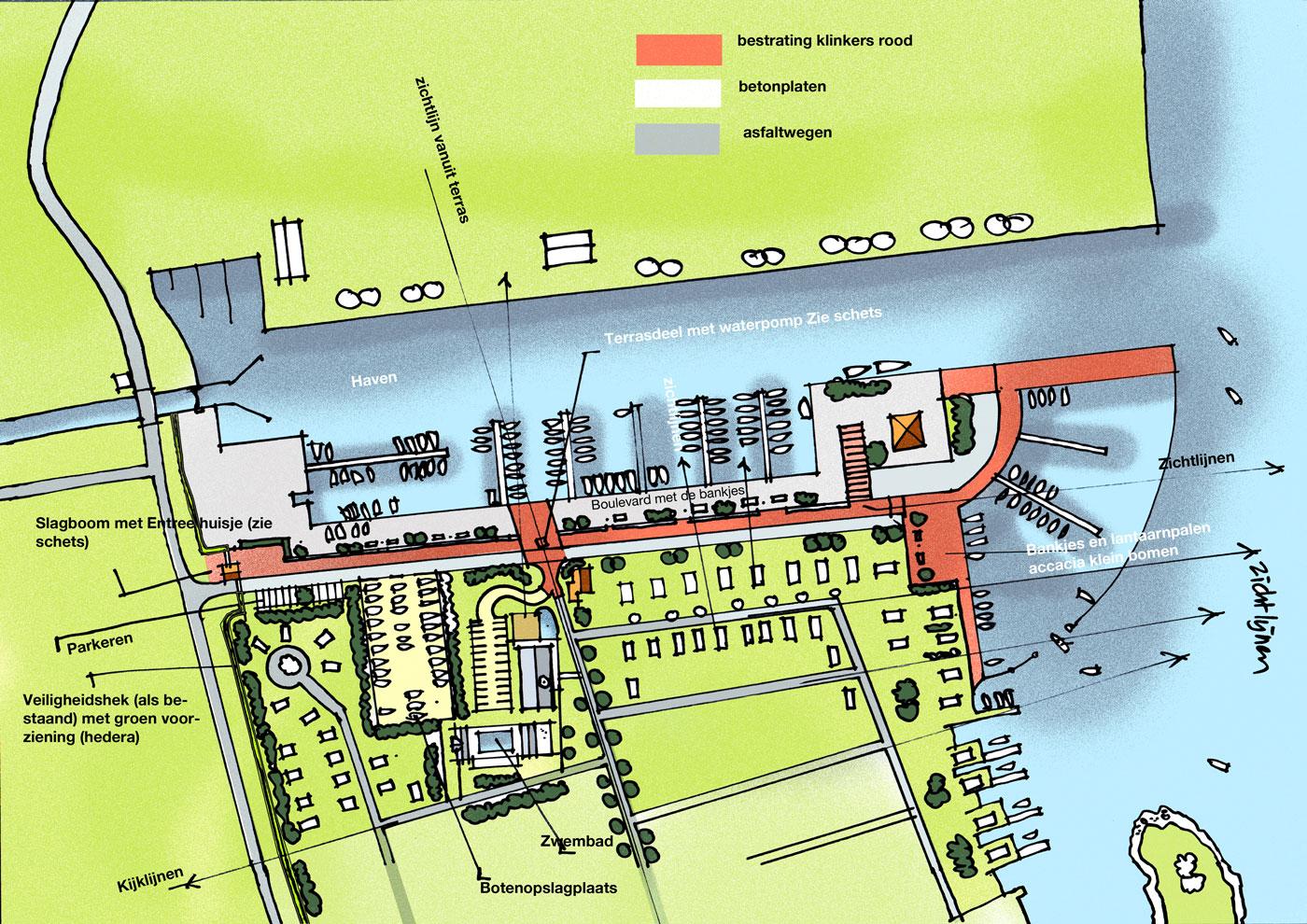 Concept plattegrond entree haven Nijkerk