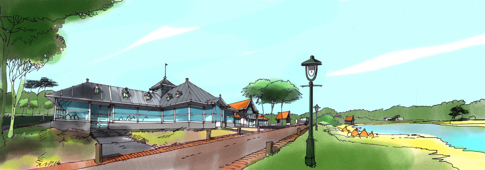 In opdracht van Droomparken. Concept zwembad en renovatie restaurant