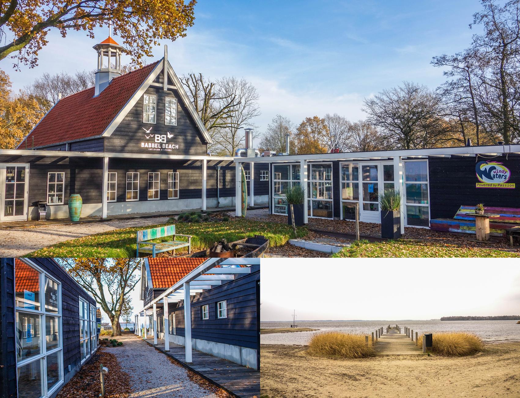 Realisatie Restaurant en watersport trainingscentrum. Uitzicht IJselmeer.